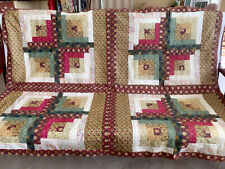 Log Cabin Lap Quilt Top # Ls-024 Made in Fl