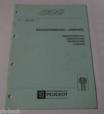 Werkstatthandbuch Peugeot 806 Lenkung / Radaufhängung / Achsen, Stand 11/1994