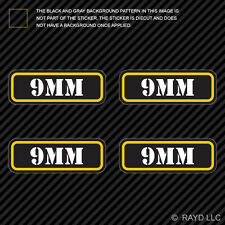 (4x) 9mm Ammo Can Sticker Set Decal Self Adhesive molon labe bullet 9 mm type 2