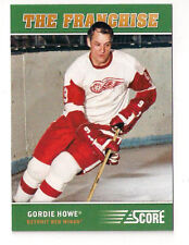 12/13 SCORE GORDIE HOWE THE FRANCHISE INSERT CARD