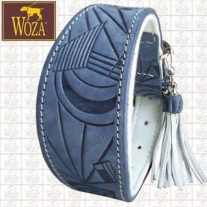 WOZA Premium Windhundhalsband Vollleder Rindnappa Greyhound Lederhalsband  G923