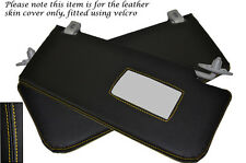 YELLOW  STITCH FITS ROVER 45 400 MG ZS 98-05 2X SUN VISORS LEATHER COVERS ONLY