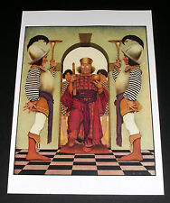 "MAXFIELD PARRISH PORTFOLIO PRINT, 1924 KNAVE OF HEARTS, ""PALACE GUARD"" LARGE!"