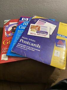 Lot of 2 Avery & 1 HP Hewlett Packard Greeting Paper and Envelope Sets 100 total