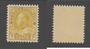 MNH Canada 7c KGV Yellow Ochre Stamp #113 (Lot #20061)