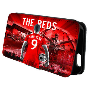 Personalised Liverpool iPhone Case Football Flip Phone Cover Mens Gift AF78