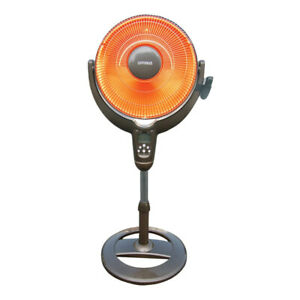 "Optimus H-4501 14"" Adjustable Oscillating Pedestal Dish Heater w/ Remote Control"