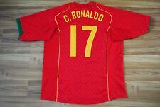 PORTUGAL NATIONAL TEAM RONALDO #17 2004/2005/2006 FOOTBALL JERSEY SHIRT HOME XL