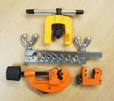 Double Flaring Tool Kit Brake Tubing Line + Mini Pipe Cutters
