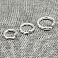 925 Sterling Silver Open Jump Rings Diameter 7mm 8mm 10mm Thick 1.5mm 1.2mm
