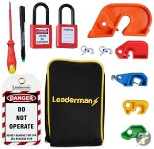 Leaderman LOM-K2 Lock out/ Lockoff Kit MCB, Tag and Padlock Kit w/ Case