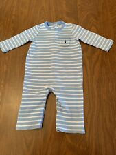 Ralph Lauren Polo. Baby Boy One-Piece Outfit Long Sleeves. Baby Blue, Size 6 Mos
