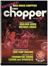 STREET CHOPPER JUNE 1971 SEE CONTENTS AEE 70's STYLE CUSTOM CHOPPERS TECH TIPS