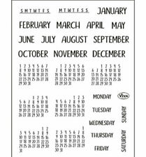 Kalender - Monate & Tage - Stempel - Clearstamp   von ViVa Decor  (4003.206.00)