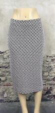 MELISSA PAIGE New Ladies White & Black skirt geometric Size 4 Stretch Career #C1