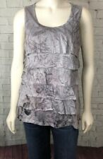 NWT Coldwater Creek Gray Floral Cascading Floral Sleeveless Knit Tank Top 2X NEW
