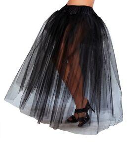 Long Full Length Petticoat Layered Underskirt Costume Gown 10039