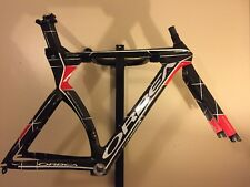 54cm 2012 Orbea Ordu Gold Carbon Fiber Time Trial Triathlon Bicycle Frame, Fork