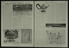Old Scottish Sporting Plate Trophy Golf Archery Gun 1956 2 Page Photo Article
