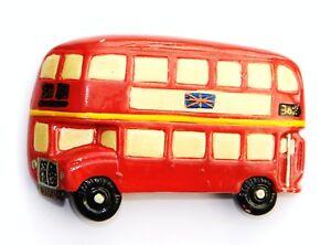 FRIDGE MAGNET 3D SOUVENIR LONDON DOUBLE DECKER BUS NO 30 REG RDN 123 UNION JACK