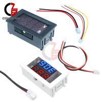 Digital DC 100V 10A Voltmeter Ammeter Blue + Red LED Dual Volt Amp Meter Gauge