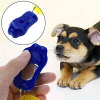 Pet Cat Dog Training Clicker Plastic Adjustable Wrist Strap Sound Key Chain SN9F