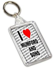 I Love Mumford And Sons Schlüsselring - Geschenk - Geburtstag - Weihnachten -