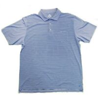 Peter Millar Men's Mountainside Collection Polo Shirt Size XL Blue Striped