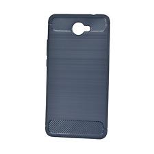 Huawei Elate, Ascend XT2 Phone Case - INNACASE Brushed Carbon - Navy Blue