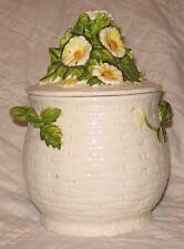 Lefton Rustic Daisy Cookie Jar
