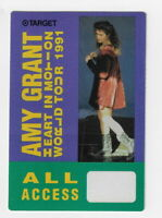 AMY GRANT - WORLD TOUR 1991 / Unused OTTO Satin Cloth ALL ACCESS  Backstage Pass