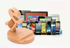 IN LEGNO PORTA CELLULARE IPHONE TAVOLO STAND PER SONY XPERIA Samsung Galaxy