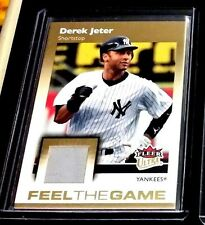 DEREK JETER 2007 FLEER ULTRA FEEL THE GAME GAME WORN JERSEY