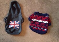 Accessorize Fairisle & K9 Designs Union Jack Dog Jumpers Size Small- New!!