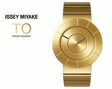 2016AW ISSEY MIYAKE TO Tokujin Yoshioka Design Unisex Quartz Watch Limited Gold