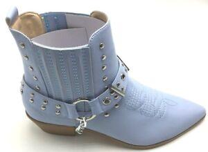 Women's Multi Color Strap Studded Combat Ridding Winter Boots Shoes Sz 6-10