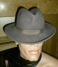 Vintage Fedora Ganster Hat 100% Wool Felt Panama Sz S Made USA DORFMAN PACIFIC