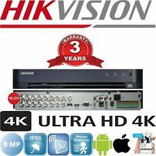 HIKVISION DS-7216HUHI-K2 4K 16 CHANNEL 8MP Turbo HD DVR  NEW HIKVISION 8MP 4K
