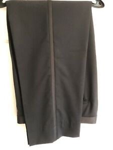 Albert Nippon Men's Black All Wool Tuxedo Pants 34W 32L