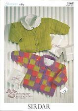 Snuggly Cardigans 4 Ply Knitting Pattern Baby & Kids Sirdar #3968 0m-6yrs