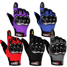 Carbon Fiber Motorcycle Motorbike Racing Protective Armed Gloves Full Finger NEW
