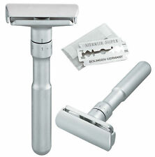 Merkur Futur 700 Adjustable Satin Chrome Double Edge Safety Razor