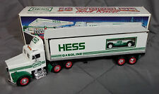 1992 Hess GAS 18 WHEELER HAULER TRUCK RACE CAR COMBO NIB MINT NEW NEVER OPERATED