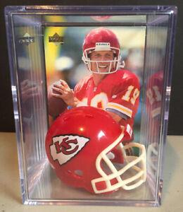 Kansas City Chiefs Joe Montana Mini Revolution Helmet Shadowbox w/ card