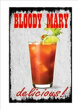 Bloody Mary Novelty Metal Door Wall Sign Kitchen Sign Pub Sign Cocktail Bar
