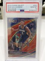 2019 Panini Select ZION WILLIAMSON Courtside Red Wave PRIZM Rookie #297 PSA 10