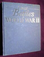 BOOK  MILITARY ILLUSTRATED GREAT BATTLES OF WORLD WAR 2 192 PAGES
