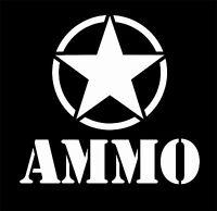 U.S. Military Ammo with Star Vinyl Decal Sticker Car Truck Window