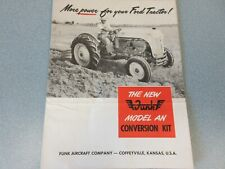 RARE Original Funk Ford 8N Tractor Brochure (Poster) With 6 Cylinder Engine