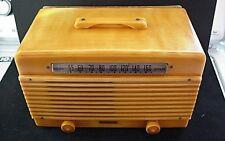VINTAGE CATALIN BAKELITE GAROD DECO TUBE RADIO MODEL 6AU-1